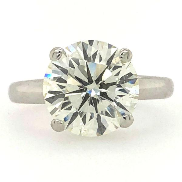 4.52 Carat Round Diamond Solitaire Engagement Ring