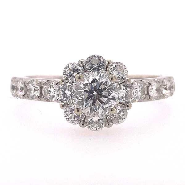 1 CTW Diamond Halo Engagement Ring
