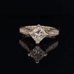 #1472-972500 Princess H SI1 1.06 ctw.|1472-972500-Princess-Engagement-Ring-H-SI1-1.06-ctw.-300x300