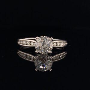 #1477B-973000 14K White Gold SI2 G Engagement Ring 1.28 ct.|