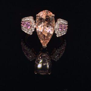 #2777D Pear Morganite Ring