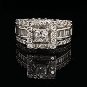 #2849A 14K White Gold Princess Engagement Ring