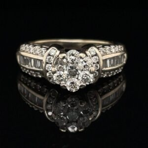 #2849B 14K White Gold Round Engagement Ring