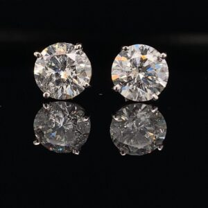 #103-9712000 Stunning 3.06CTW Earrings H color I1 clarity