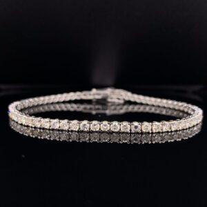 #B5882-974999 5ct. White Gold Tennis Bracelet
