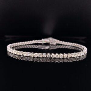 #B5882-973999 4ct. White Gold Tennis Bracelet