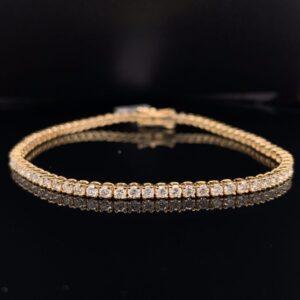 #B5882-972999 3ct. Yellow Gold Tennis Bracelet
