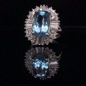 #291839 AQ-Ring 14K White Gold 2893