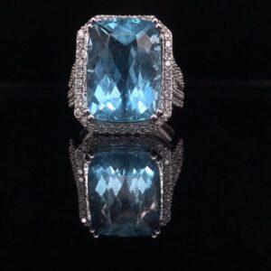 #294919 AQ-Ring 14K White Gold 4400