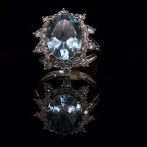 #286609 AQ-Ring 14K White Gold 1914