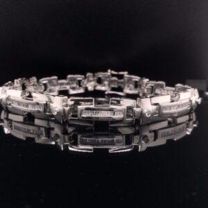 #2844G 973000 14K White Gold Mens Bracelet Luxor