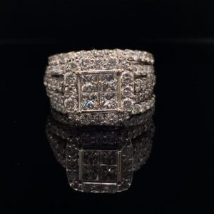#2795-973000 3.00 CTW Cluster Ring and matching bands