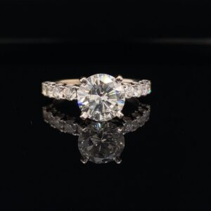 #3008-9713000 2.54 ct. Engagement Ring Diamonds Round The Band I Color SI2 Clarity