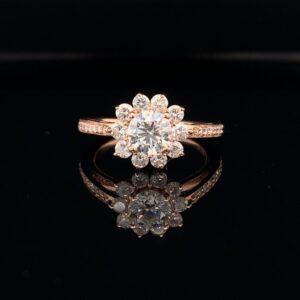 #1486-972500 0.70 ct. Round Brilliant Engagement Ring H Color VS2 Clarity