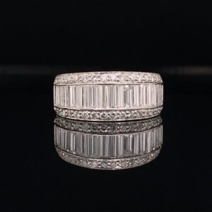 This beautiful Platinum band has 2.00CTW of diamonds that are G in color and SI in clarity!! This band is available for only $2500!! Inquire Now!!