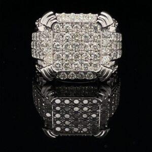 #RodS8 Mens Diamond Ring Cluster