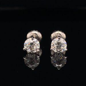 #E102-971500 Beautiful 1.03CTW Earrings H Color SI1 Clarity