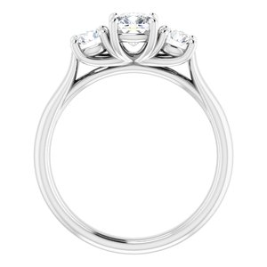 #122105:496 14K White 5 mm Cushion Engagement Ring Mounting
