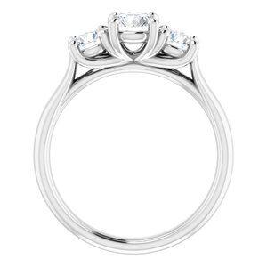 #122105:544 14K White 4.1 mm Round Engagement Ring Mounting