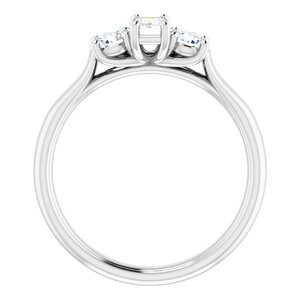 122105512 14K White 5x3 mm Emerald Engagement Ring Mounting 1