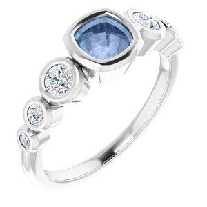 124658 270 14K White 5 mm Cushion Engagement Ring Mounting