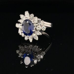 #12777Stock 1.18ct. Sapphire Engagement Ring