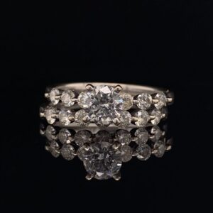 #1471A 14K White Gold 0.65 Round Engagement G SI2 1.40 CTW