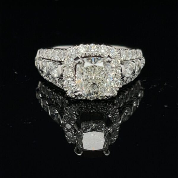 M3011-M976500 1.51ct. CU 14K White Gold Engagement Ring Color I Clarity SI1 GSI