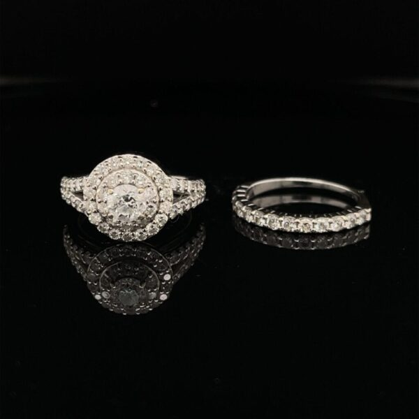 M3013-M972400 1.66CTW 14K White Gold Engagement Ring Color I ClarityI1