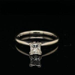 #2065-97500 0.46ct. 14K White Gold PR Engagement Ring H SI2