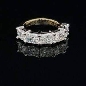 #3067A-975500 2.51 ct. 14K Yellow Gold Radiant Platinum Head GIA Color D-F Clarity VS1-VS2