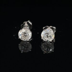 SETH 2.10 CTW Stud Earrings Color H Clarity SI1